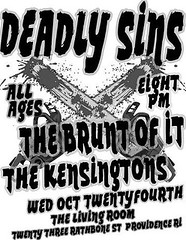 Deadly Sins @ The Living Room Flyer