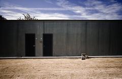the doors (u.linder) Tags: blue green lines architecture concrete doors gray pylon fkk ©allrightsreserved ulinder unterwegsmitkwerfeldein ulinder photography