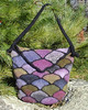 Felted Stained Glass Bag with Flap