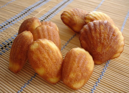 Lime honey madeleines