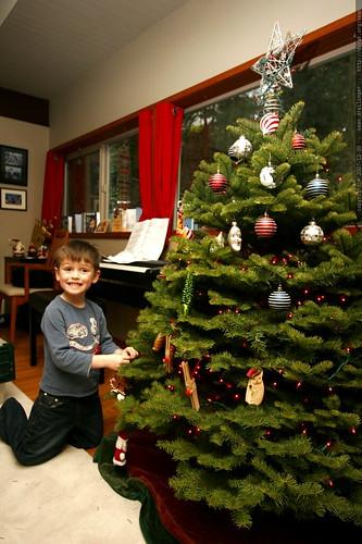 nick hanging ornaments on the xmas tree - _MG_6759