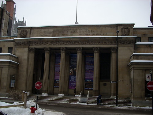 The old Montreal Stock Exchange