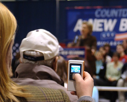 Videoing Hillary Clinton