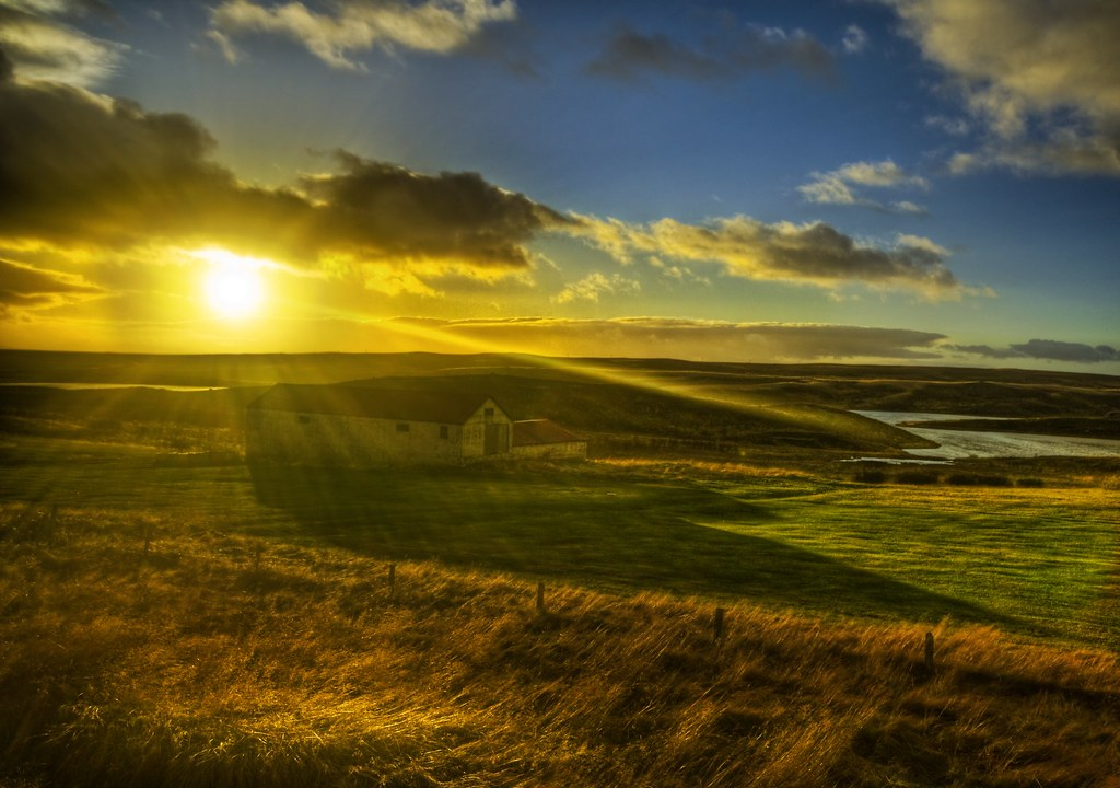 The Setting Sun and the Farm