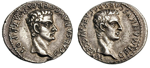 773 Caligula Denarius with Germanicus