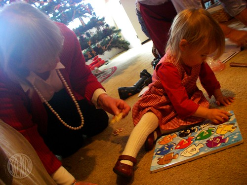 playing puzzles with Grandma