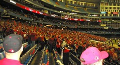 A sea of Scarlet on the RU side.
