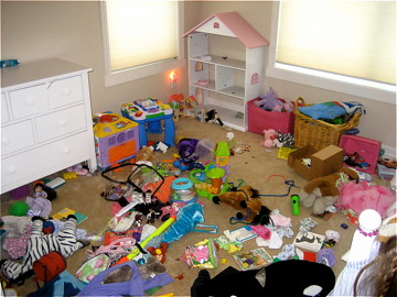 Toy Room Disaster ready for Santa's Visit