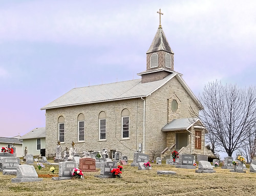 Saint Anne Roman Catholic Church, in French Village, Missouri, USA - exterior