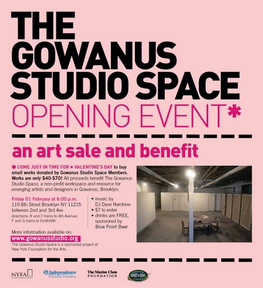 Gowanus Studio Space Opening