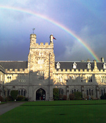 ucc quad & rainbow (silyld) Tags: cameraphone blue ireland red irish orange green college sunshine yellow camphone nokia rainbow university cork violet indigo quad bow ucc n80 munster corcaigh dazzlingshots