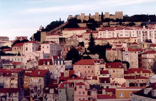 Lisboa, barrio del castillo