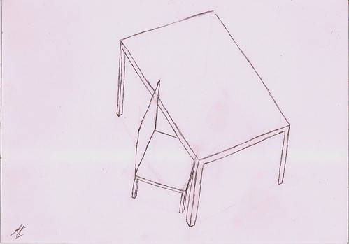 Box table and chair 2