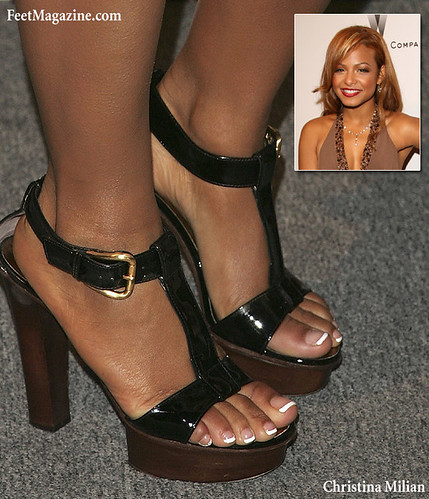 Ebony toes in heels
