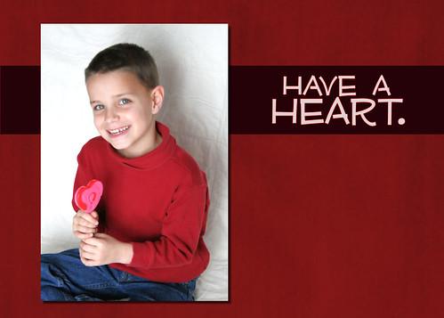 Jack's 5x7 Valentine's Day card