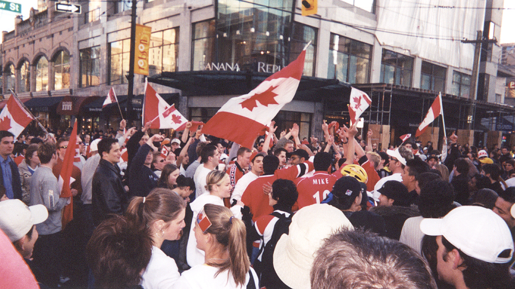 Canada's Olympic Men's Hockey Team winning the gold medal, 2002 Winter Olympics
