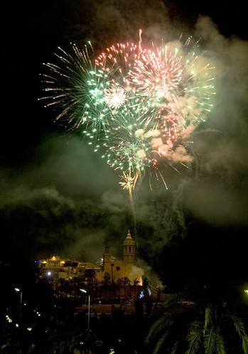 Fireworks over Sitges