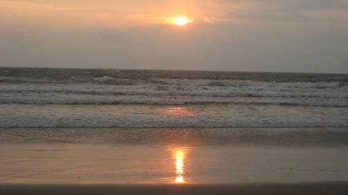 Valentine's Day sunset in Bali