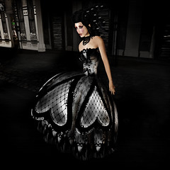House of Nyla 2 (Seereina Geiger) Tags: fashion model silent modeling gothic sl secondlife valentines couture houseofnyla seereinageiger