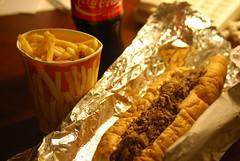Ishkabibble's cheesesteak & fries (~whitetara~) Tags: philadelphia restaurant fries philly cheesesteak southstreet phillycheesesteak d40x wwwfarflungfotographycom