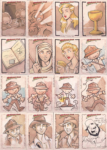 Indiana Jones trading cards