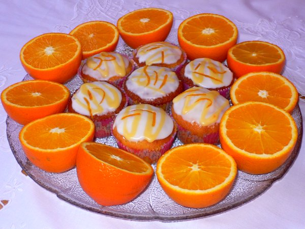 Orange cakes for Fairtrade fortnight