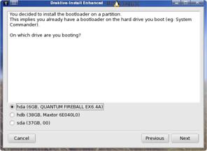 memilih hardisk bootloader custom