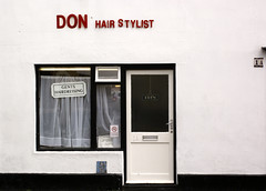 Don Hair Stylist (The Green Album) Tags: red white black hair doors open wells somerset hairdresser don simple gents 1a stylist aplusphoto
