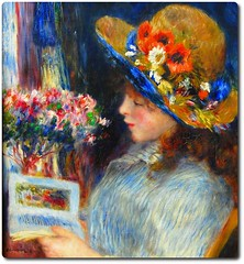 Reading Girl (our cultural archive) Tags: germany painting french oneofakind fineart master painter impressionist frankfurtammain cate pierreaugusterenoir saturatedcolor fireflag städelmuseum readinggirl oarsquare vibrantlight