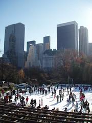 Central Park (jane_sanders) Tags: park plaza nyc newyorkcity newyork hotel centralpark manhattan iceskating icerink plazahotel trumptower wollmanrink sonybuilding solowbuilding attbuilding generalmotorsbuilding sherrynetherland
