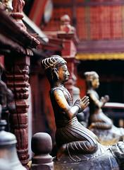 Kwa Bahal, Patan (Golden Temple) (ChihPing) Tags: nepal portrait zeiss temple 645 kodak slide contax patan e100vs goldentemple expiredfilm  contax645     140mm kwabahal     hiranavarnamahavihar