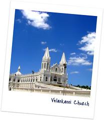 Velankanni Church (Smevin Paul - Thrisookaran !! www.smevin.com) Tags: blue our sky india church lady paul photography nikon photos kerala contact 1855 tamilnadu thrissur trichur vailankanni velankanni kuriachira smevin smevinpaul d40x trisoor malayalikkoottam smevins thrisookaran