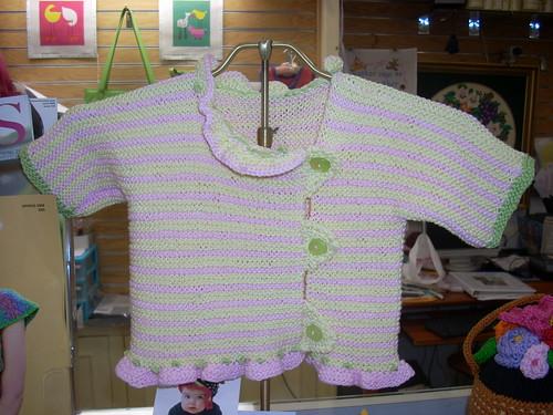 Sweetie Striped Newborn Sweater