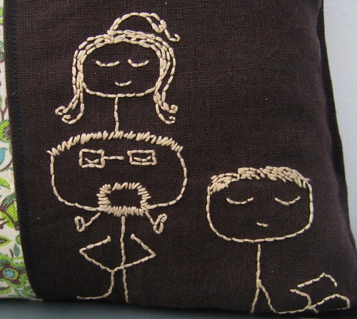 Family doodle embroidery (detail)