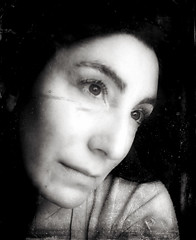 """""""And I dreamed I saw the bombers riding shotgun in the sky"""" / Day 272 Year 2 (sadandbeautiful (Sarah)) Tags: portrait bw woman selfportrait texture me female self yeartwo 365days day273y2"""