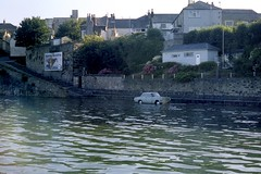 Poor choice of parking spot. (Renown) Tags: car cornwall oldcar amphicar vauxhall penzance newlyn cresta newlynharbour