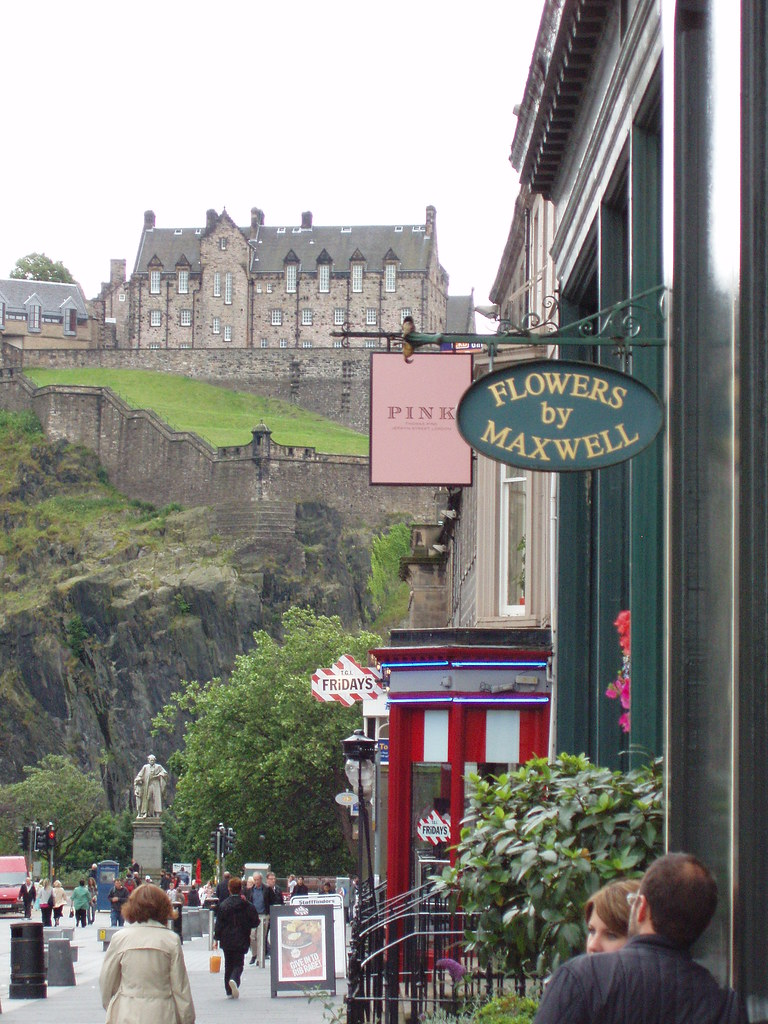 Edinburgh Castle- View from Castle Street.