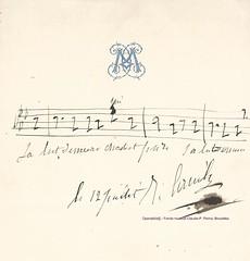 """Ténor, portée musicale signée, cavatine de Faust """"Salut, demeure chaste et pure"""" ... (Operabilia) Tags: claudepascalperna opera goldenage autographe autograph gounod faust tenor cavatine opéra operabilia"""