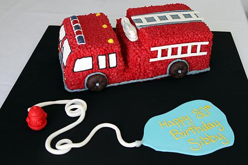 Easy Fire Engine Birthday Cakes