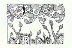 asparagus land (Jo in NZ) Tags: pen drawing line innk zentangle nzjo zendoodle