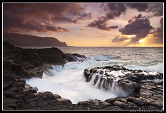 Where Kings Bathed (aFeinPhoto (Aaron Feinberg)) Tags: seascape hawaii dramatic kauai hanalei balihai makana queensbath aaronfeinberg