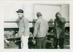 What is going on here? (anyjazz65) Tags: railroad guy transportation what trio w2 foundphotograph whatisgoingonhere whatsgoingonhere ajo65 bloglgsswhatisgoingon20130420 bloglgrr20140119