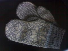 New light grey mittens