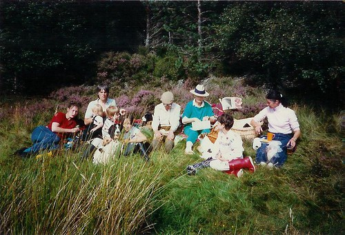 Family picnic by the loch - August 1987
