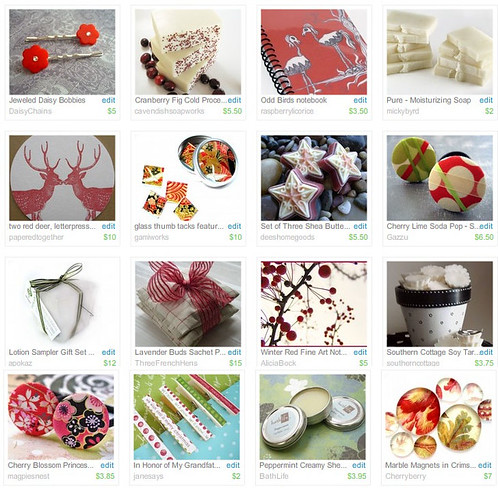 holiday red&white stocking stuffers