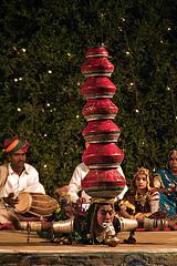 Pushkar Camp Entertainment (tedesco57) Tags: india drums evening pots entertainment juggler balancing rajasthan bangles