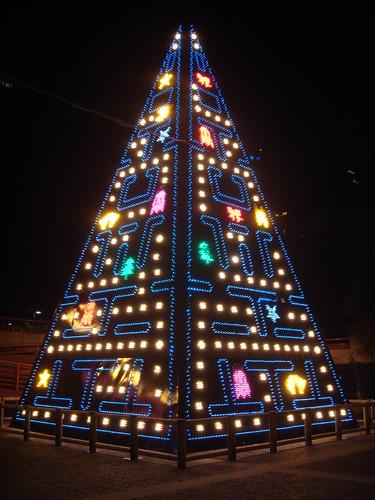 Arbol Navidad pac-man madrid