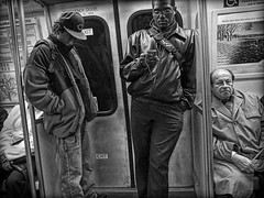 R0010394 (digital_don) Tags: urban bw men subway iso800 washingtondc metro grain grainy fullframe ricoh commuters 2007 grd
