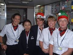 My crew on a Xmas trip (Photography by Samantha) Tags: xmas aircraft hats multicultural job stewardesses smilingfaces womeninuniform beautifulladies chineseladies englishladies aircraftgalleys spanishladies