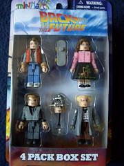 "The ""back to the Future"" 4 pack box set (bratislabat) Tags: toy cult setting figures backtothefuture martymcfly minimates"